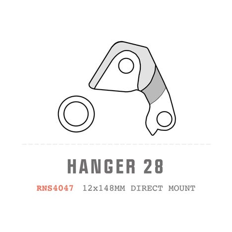 Saracen Hanger 28 fits: 2018 Ariel/Zenith Carbon (Direct)