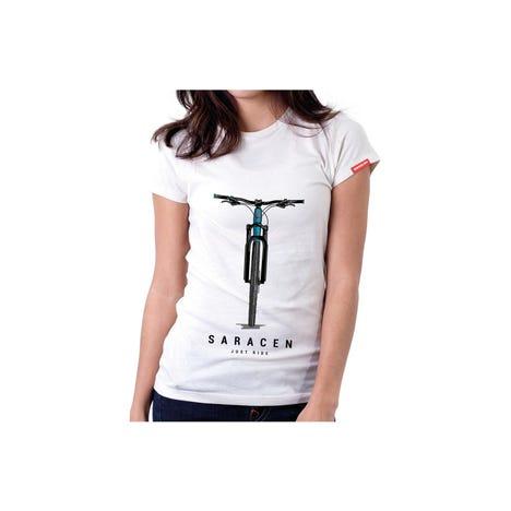 Womens T-Shirt Front View Bike