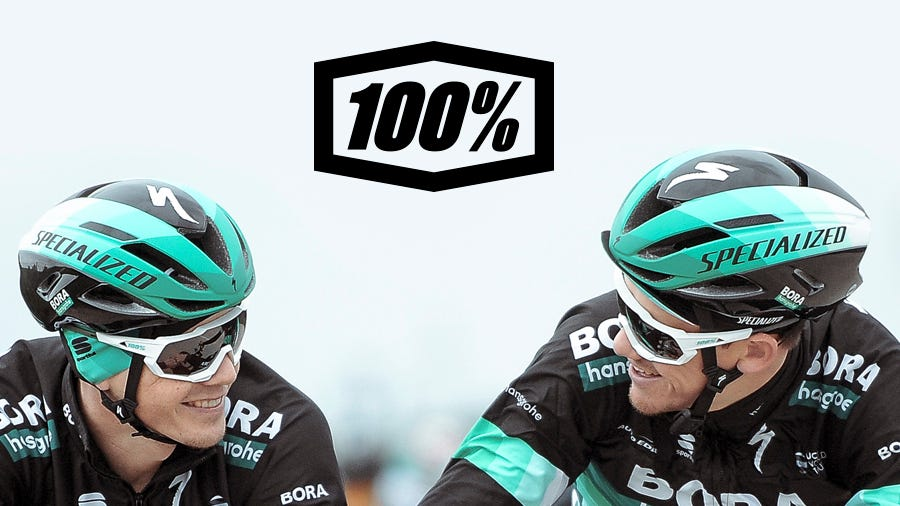 100% partners with BORA-hansgrohe pro cycling