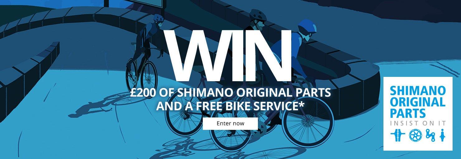 Win £200 of Shimano Original Parts and a Free bike service*