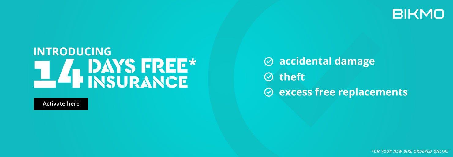 14 Days FREE Insurance*