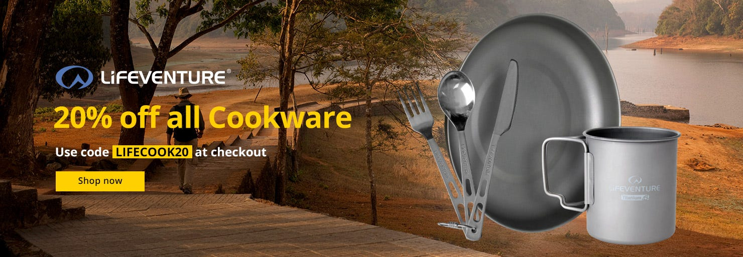 20% Off All Lifeventure Cookware