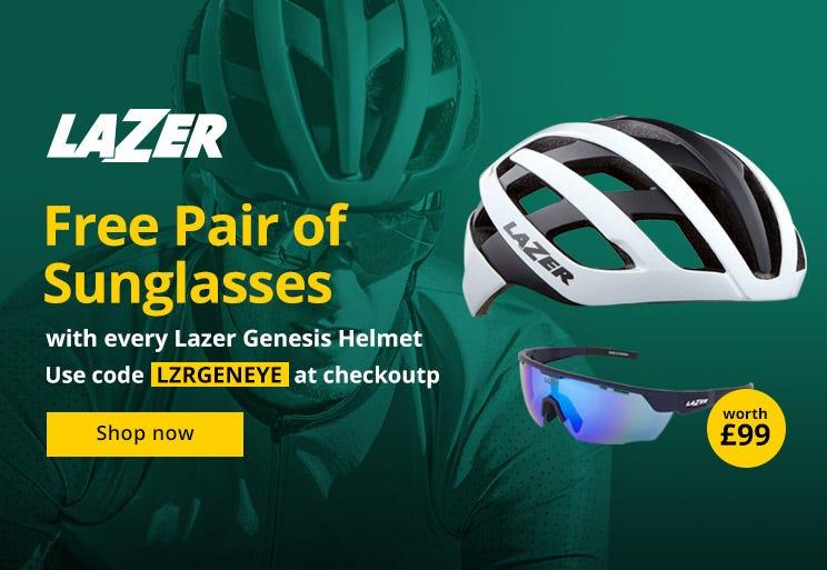 FREE pair of sunglasses* with a Lazer Genesis helmet