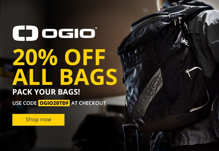 20% Off all Ogio bags!
