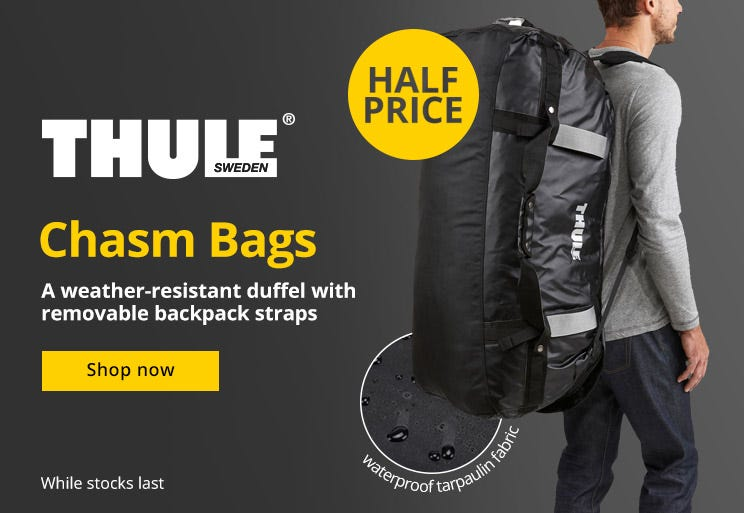 Thule Chasm Bags - Now Half Price!